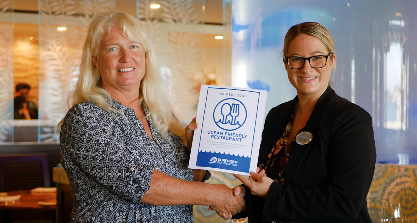 Evans Hotels Restaurants Certified as Ocean Friendly